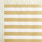Crate Paper - Wonder Collection - 12 x 12 Double Sided Paper with Glitter Accents - Stripe