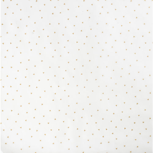 Crate Paper - Wonder Collection - 12 x 12 Vellum with Foil Accents - Triangles