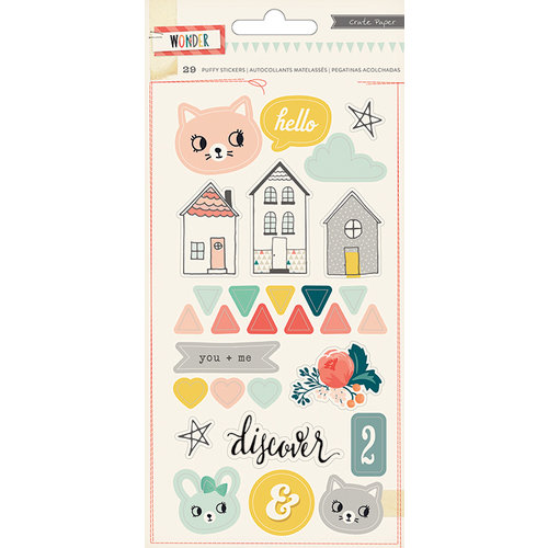 Crate Paper - Wonder Collection - Puffy Stickers