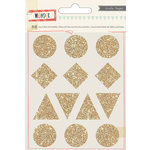 Crate Paper - Wonder Collection - Glitter Stickers - Shapes