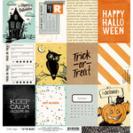 Crate Paper - After Dark Collection - Halloween - 12 x 12 Double Sided Paper - Happy Halloween