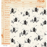 Crate Paper - After Dark Collection - Halloween - 12 x 12 Double Sided Paper - Haunted