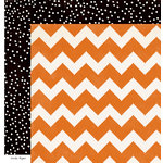 Crate Paper - After Dark Collection - Halloween - 12 x 12 Double Sided Paper - Pumpkin