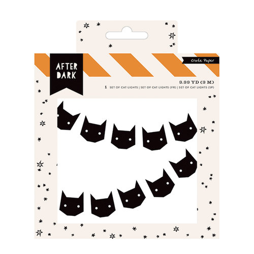 Crate Paper - After Dark Collection - Halloween - Banner - Cat String Lights