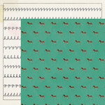 Crate Paper - Maggie Holmes Collection - Shine - 12 x 12 Double Sided Paper - Joy
