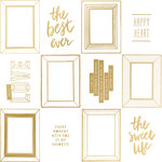 Crate Paper - Shine Collection - 12 x 12 Acetate Paper with Foil Accents - Golden