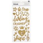 Crate Paper - Shine Collection - Thickers - Gold Glitter - Beautiful - Gold