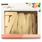 Crate Paper - Shine Collection - Chipboard Letter with Foil Accents