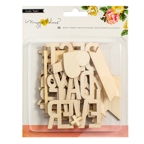 Crate Paper - Shine Collection - Wood Veneer Pieces