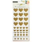 Crate Paper - Shine Collection - Cardstock Stickers with Glitter Accents - Basics