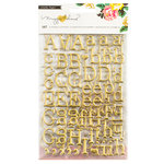 Crate Paper - Maggie Holmes Collection - Shine - Puffy Stickers - Alphabet