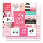 Crate Paper - Hello Love Collection - 12 x 12 Double Sided Paper - Lots of Love
