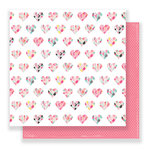Crate Paper - Hello Love Collection - 12 x 12 Double Sided Paper - Be Mine