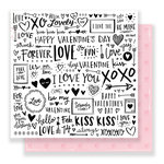 Crate Paper - Hello Love Collection - 12 x 12 Double Sided Paper - My Valentine