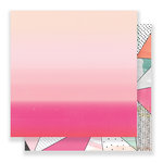 Crate Paper - Hello Love Collection - 12 x 12 Double Sided Paper - Blush