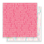 Crate Paper - Hello Love Collection - 12 x 12 Double Sided Paper - Two Hearts