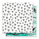 Crate Paper - Hello Love Collection - 12 x 12 Double Sided Paper - Kisses
