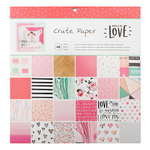 Crate Paper - Hello Love Collection - 12 x 12 Paper Pad
