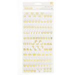 Crate Paper - Hello Love Collection - Thickers - Gold Foil - Chipboard - Gold