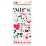 Crate Paper - Hello Love Collection - Thickers - Epoxy - Phrases