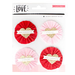 Crate Paper - Hello Love Collection - Layered Embellishments - Delights