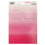 Crate Paper - Hello Love Collection - Cardstock Stickers with Foil Accents - Phrases