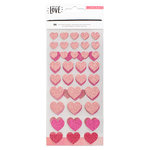 Crate Paper - Hello Love Collection - Glitter Stickers - Hearts