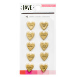 Crate Paper - Hello Love Collection - Resin Hearts