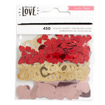 Crate Paper - Hello Love Collection - Sequin Hearts