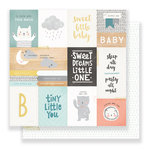 Crate Paper - Little You Collection - 12 x 12 Double Sided Paper - Little One