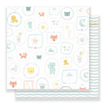 Crate Paper - Little You Collection - 12 x 12 Double Sided Paper - Sweet Boy