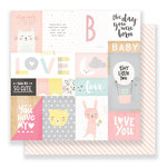Crate Paper - Little You Collection - 12 x 12 Double Sided Paper - My Sunshine