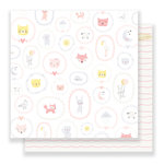 Crate Paper - Little You Collection - 12 x 12 Double Sided Paper - Baby Girl