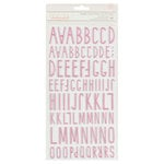 Crate Paper - Little You Collection - Thickers - Puffy - Starlight - Pink