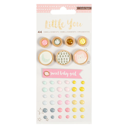 Crate Paper - Little You Collection - Embellishments - Mixed - Girl
