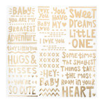 Crate Paper - Little You Collection - 12 x 12 Vellum with Foil Accents - Sweet Dreams