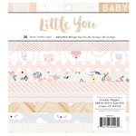 Crate Paper - Little You Collection - 6 x 6 Paper Pad - Girl