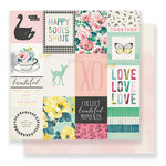 Crate Paper - Bloom Collection - 12 x 12 Double Sided Paper - Fresh