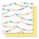 Crate Paper - Bloom Collection - 12 x 12 Double Sided Paper - Garden Party