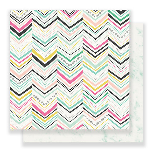 Crate Paper - Bloom Collection - 12 x 12 Double Sided Paper - Delighted