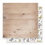 Crate Paper - Maggie Holmes Collection - Bloom - 12 x 12 Double Sided Paper - Flutter