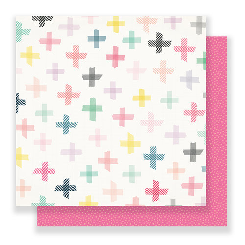 Crate Paper - Bloom Collection - 12 x 12 Double Sided Paper - Blossom