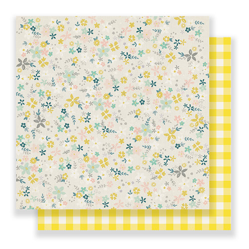 Crate Paper - Bloom Collection - 12 x 12 Double Sided Paper - Sun Lit