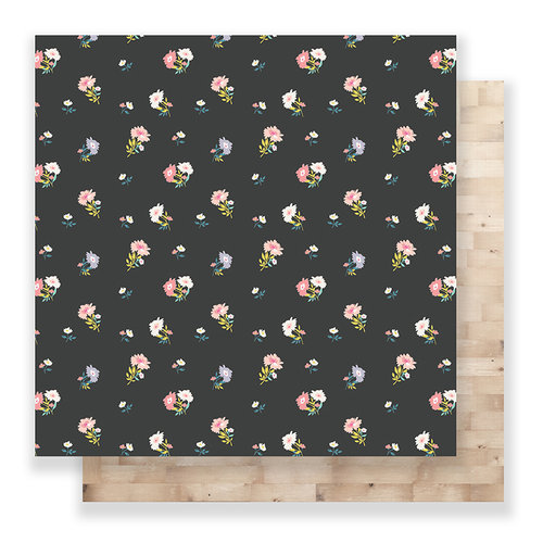 Crate Paper - Bloom Collection - 12 x 12 Double Sided Paper - Lizzy