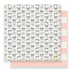 Crate Paper - Bloom Collection - 12 x 12 Double Sided Paper - Ribbons