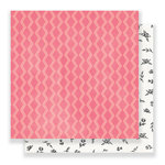 Crate Paper - Bloom Collection - 12 x 12 Double Sided Paper - Peony