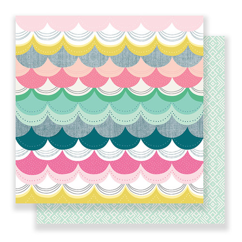 Crate Paper - Bloom Collection - 12 x 12 Double Sided Paper - Blissful
