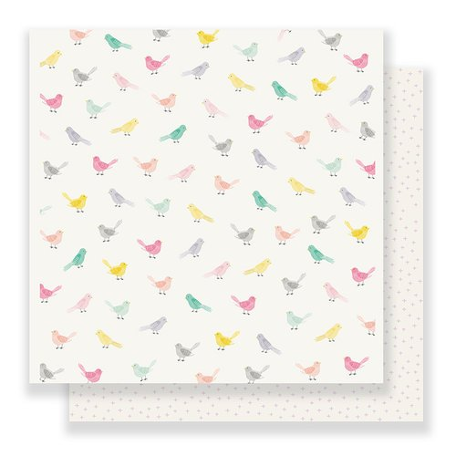 Crate Paper - Bloom Collection - 12 x 12 Double Sided Paper - Little Bird