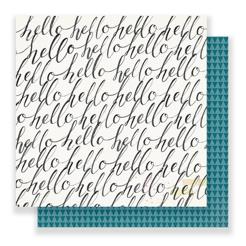 Crate Paper - Bloom Collection - 12 x 12 Double Sided Paper - Hello Hello