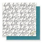 Crate Paper - Maggie Holmes Collection - Bloom - 12 x 12 Double Sided Paper - Hello Hello